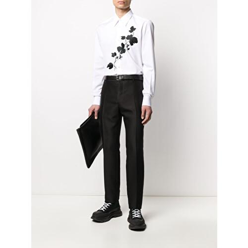 Camicia con ricamo floreale