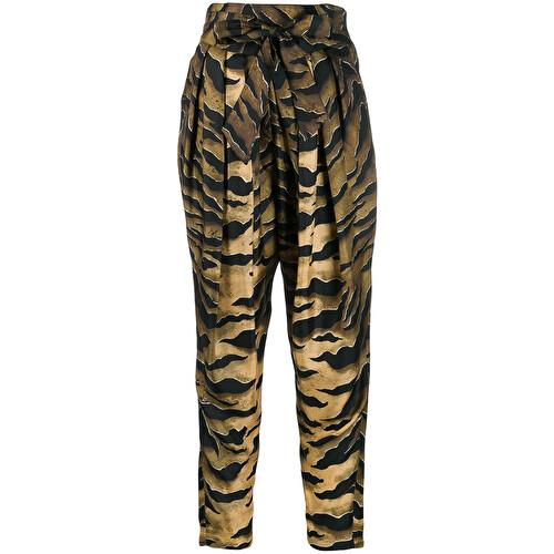 Pantalone con stampa animalier
