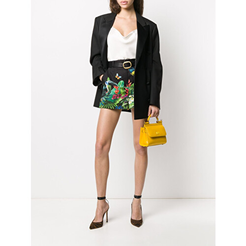 Shorts con stampa tropical