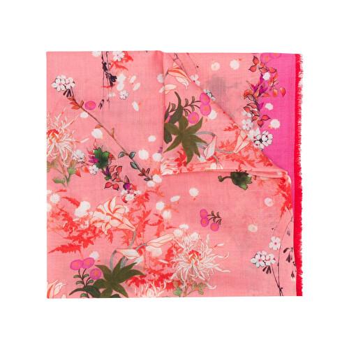 Foulard con stampa floreale