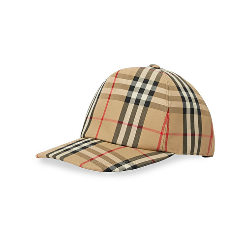 'Vintage Check' baseball cap