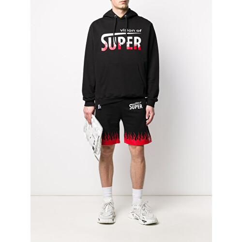 'Flame' print shorts