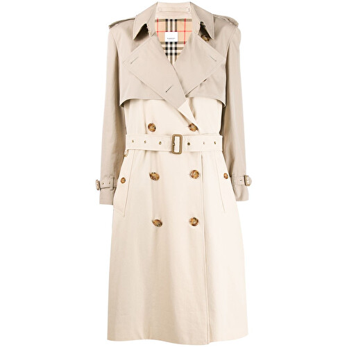 Layered midi trench coat