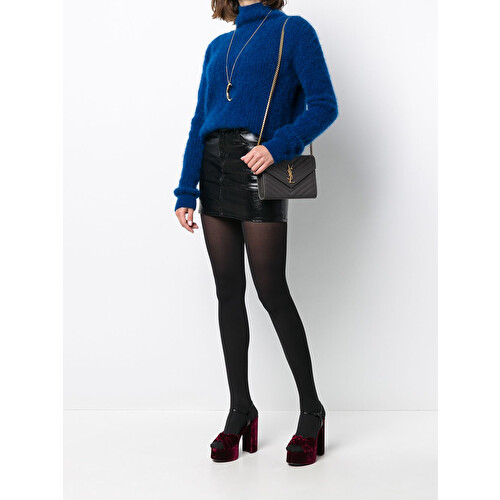 Roll-neck knitted jumper