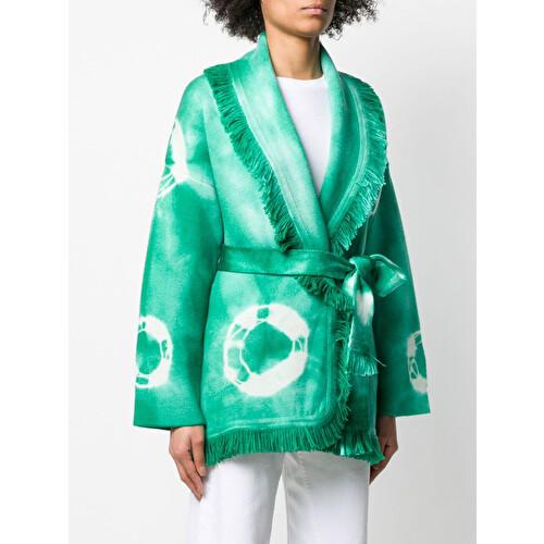Cardigan in cashmere tie dye