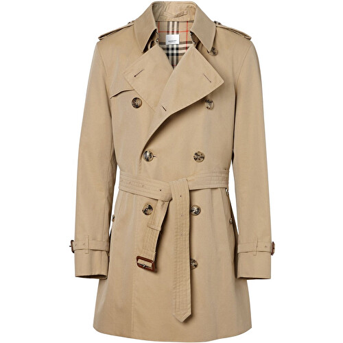 Slim-fit trench coat