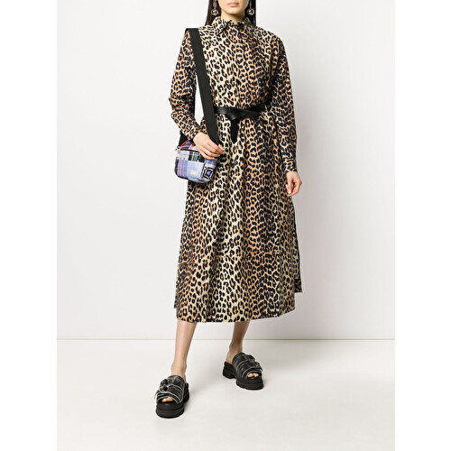Abito chemisier leopardato