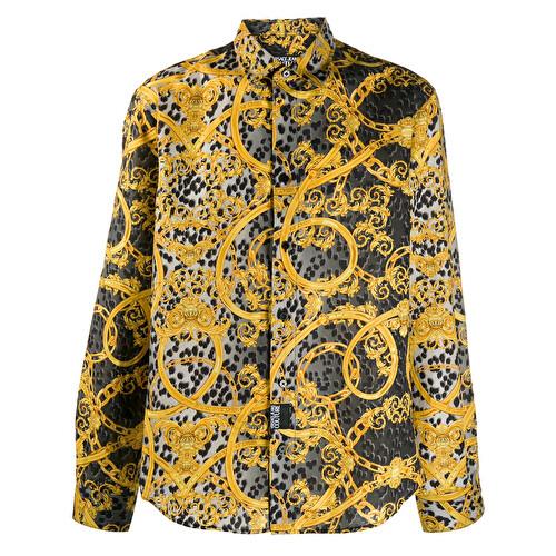 Camicia con stampa barocca
