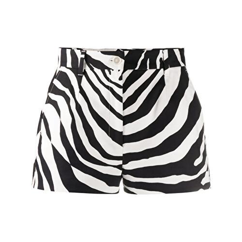Shorts con stampa zebrata