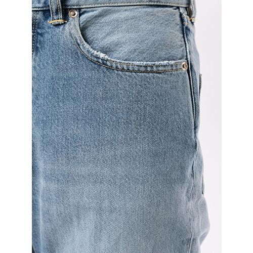 Jeans crop a vita alta