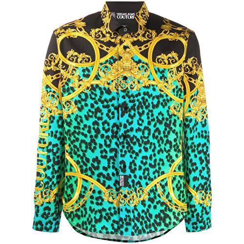 Camicia con stampa multicolore