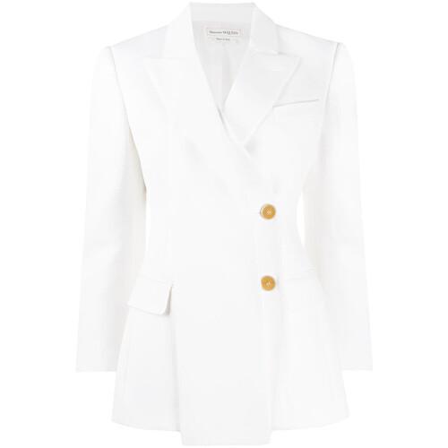Drape panel blazer jacket