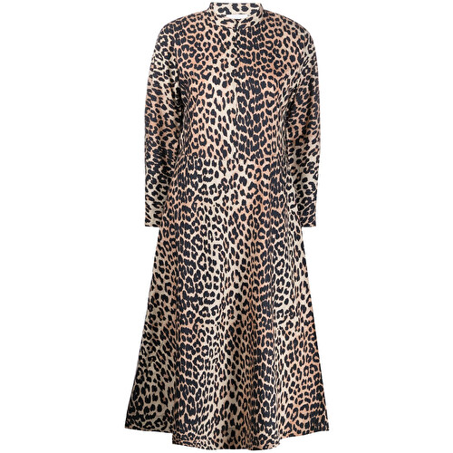 Abito midi leopardato