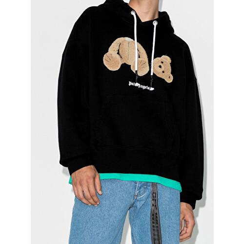 'Bear' print hoodie