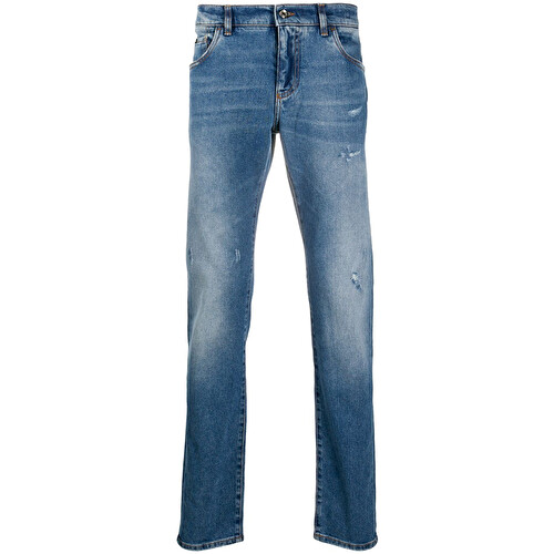 Stonewash ripped jeans