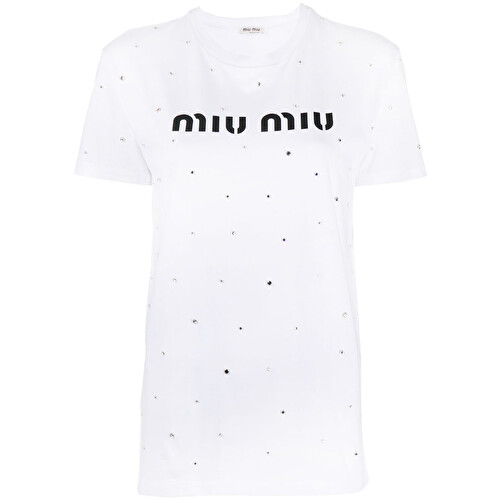 Tshirt icon cristalli applicati e stampa logo