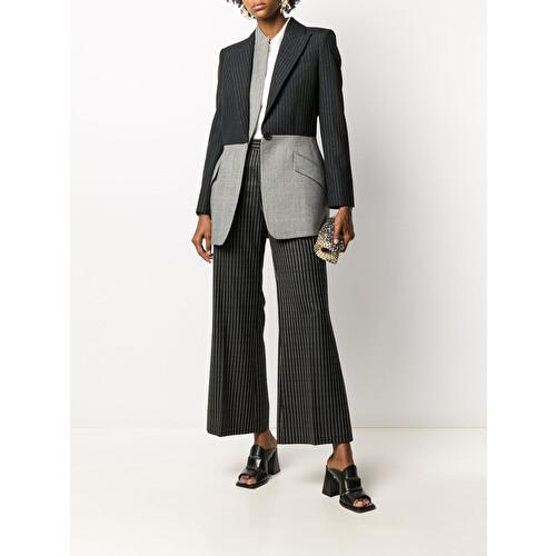 Two tone pinstripe blazer
