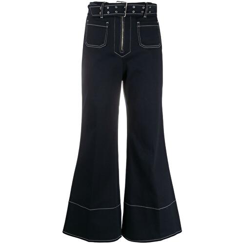 Jeans crop svasato