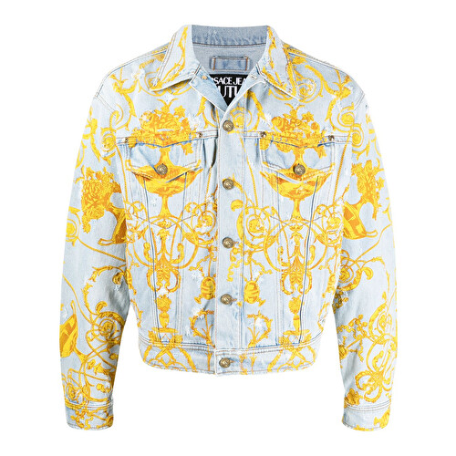 Barocco print denim jacket