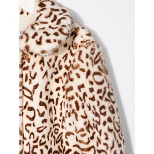 Cappotto con stampa leopardata