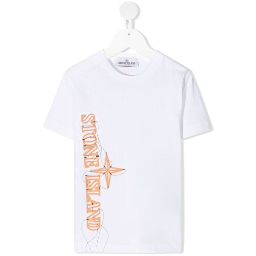 T-shirt con stampa 'Neon lights two'