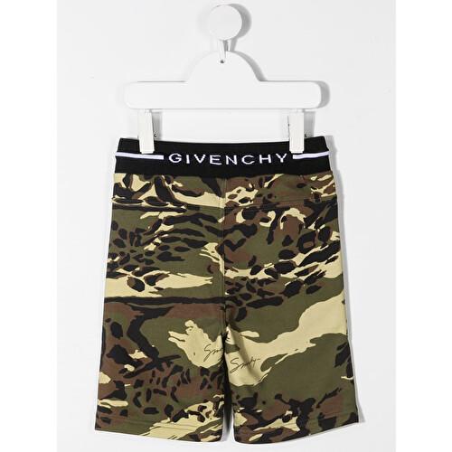 Shorts con stampa militare