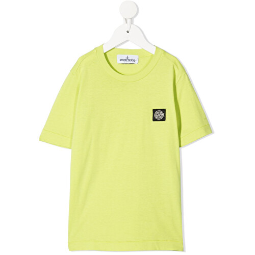 T-shirt con patch logo