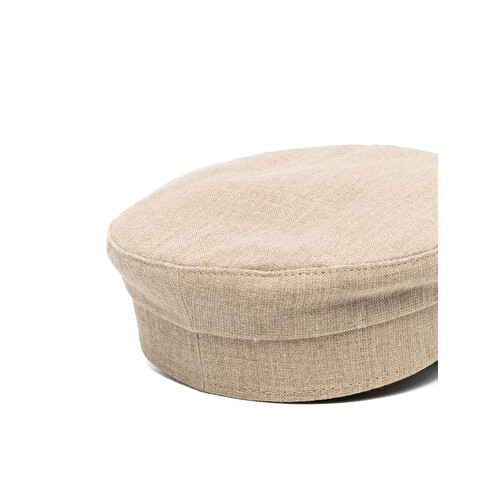 Contrast-stitch hat