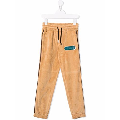 Pantalone sportivo con patch logo