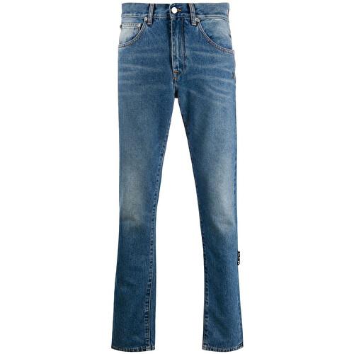 'Diag Striped' jeans