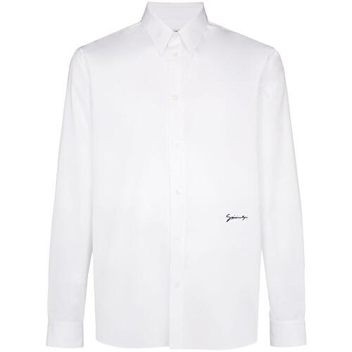 Camicia classica con logo