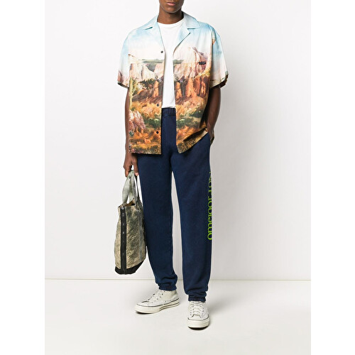 Slogan print track pants