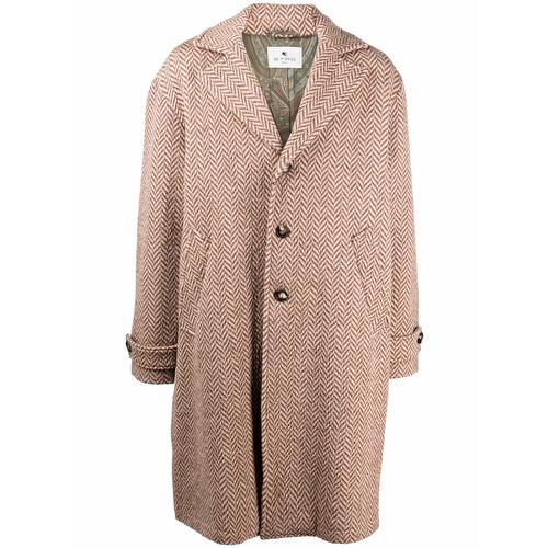 Cappotto in maglia chevron