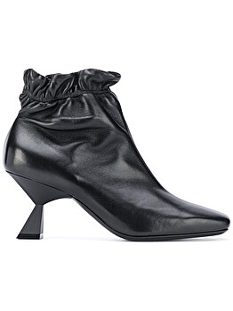 Sculpted heel ankle boots