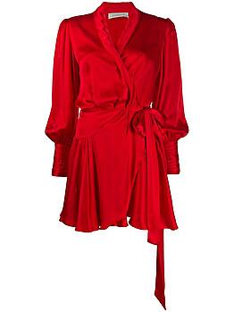 Wrap-up style mini dress