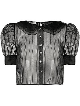 Sheer stripe blouse