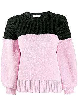 Bi-colour sweater