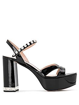 Sandalo platform con cristalli