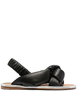 Knot-detail flat sandals