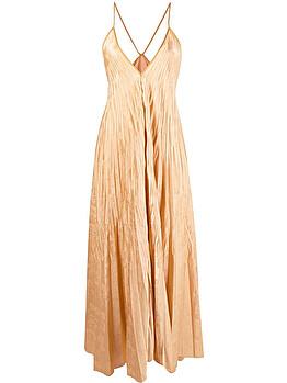 Plissé gown