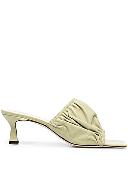 Ruched mules