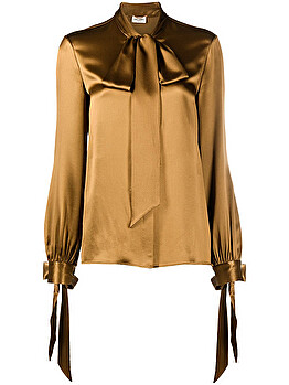 Pussy-bow blouse