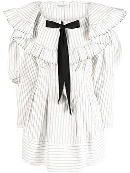 Pinstriped bow dress