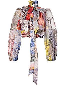 'Botanica' cropped blouse
