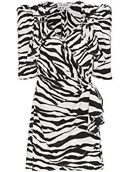Abito corto zebrato